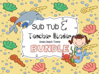 BUNDLE Editable Substitute Binder and Teacher Binder { Oce