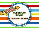 BUNDLE School Days Theme - Sub Tub Substitute Binder and T