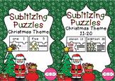 BUNDLE! Subitizing Puzzles 1-20 Christmas Theme