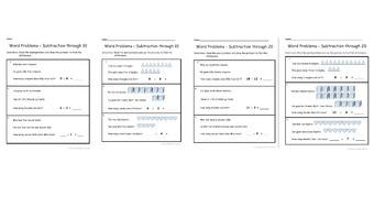 BUNDLE! Subtraction Word Problems