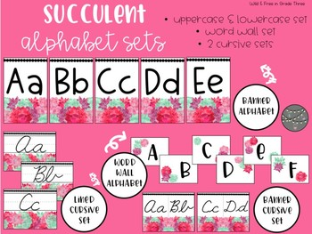 BUNDLE: Succulent Labels, Name Tags, Banners, Numbers & Editables (610 Pieces)