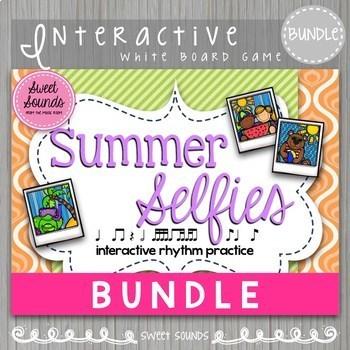 BUNDLE Summer Selfies {Interactive Rhythm Games}