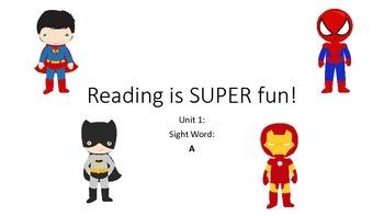 BUNDLE Super Hero Pre-Primer Sight Word Units 1-4 MEGA PACK