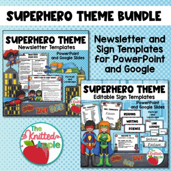 BUNDLE: Superhero Newsletters and Editable Signs