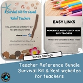 Substitute- Relief Teaching  Bundle -Survival Kit and Webs