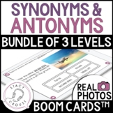 BUNDLE Synonyms and Antonyms Vocabulary BOOM CARDS™ Distan