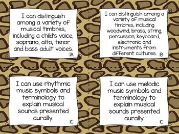 BUNDLE: TEKS Music I Can Statements 3-5