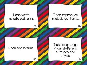 BUNDLE: TEKS Music I Can Statements K-2
