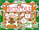 BUNDLE THANKSGIVING CHRISTMAS WORD PROBLEMS ELA TASK CARDS CENTERS