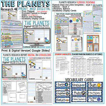 BUNDLE: THE SOLAR SYSTEM: PLANETS AND MOON PHASES