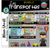 BUNDLE TRANSPORTS - Boom Cards Distance Learning (Spanish)