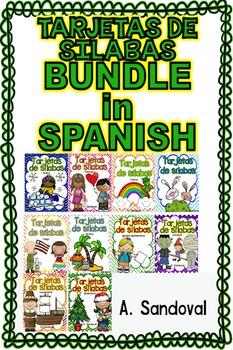 BUNDLE-Tarjetas de sílabas para todo el año