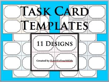BUNDLE Task Cards Blank Templates 11 Designs TASK CARDS