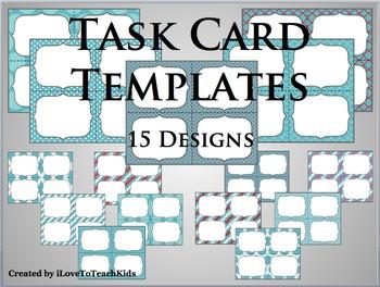 BUNDLE Task Cards Blank Templates 15 Designs TASK CARDS