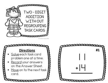 Two-Digit Addition & Subtraction Task Cards - 4 set BUNDLE