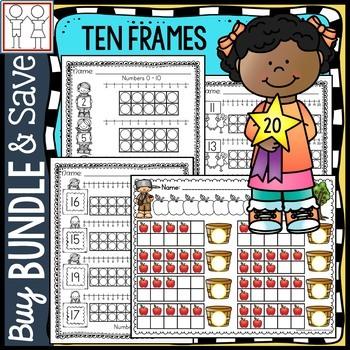 BUNDLE: Ten Frame Worksheets