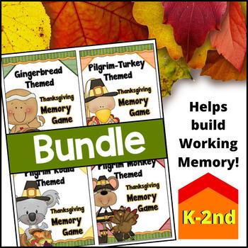 BUNDLE - Thanksgiving Memory - Concentration Games