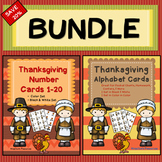 Thanksgiving Activities Bundle: Number Cards and Alphabet Cards