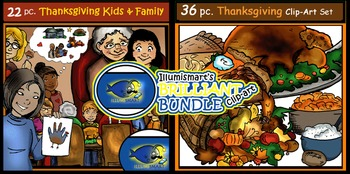 BUNDLE! Thanksgiving Objects AND Kids & Family! 68 pieces TOTAL!