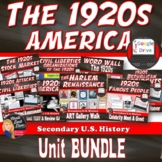 The 1920's (Roaring '20's) -BUNDLE  – 10 Day Unit Plan (secondary U.S History)