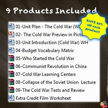 Cold War - BUNDLE (World History) Common-Core Aligned!