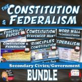 The Constitution & Federalism Unit BUNDLE (Civics)