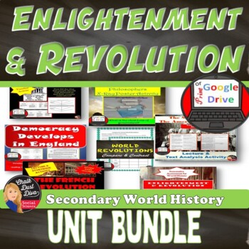 BUNDLE Enlightenment and Revolutions (World History) Common-Core Aligned