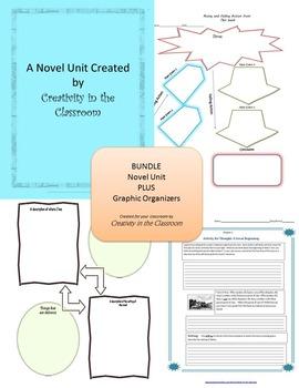 BUNDLE: The Giver Novel Unit Plus Grammar AND Graphic Organizers