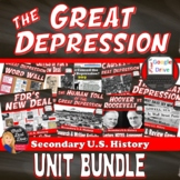 Great Depression BUNDLE– 13 Day Unit Plan ( U.S History)