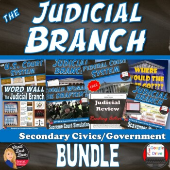 BUNDLE: The Judicial Branch (CIVICS) Common-Core Aligned!
