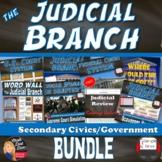 The Judicial Branch BUNDLE (CIVICS) Common-Core Aligned!