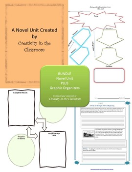 BUNDLE:The Sea of Monsters Novel Unit Plus Grammar AND Graphic Organizers