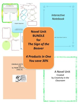 BUNDLE: The Sign of the Beaver 4 Products in 1