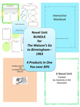 BUNDLE: The Watsons Go to Birmingham--1963  4 Products in 1