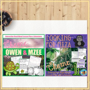 BUNDLE: Theme Interactive Read Alouds, fiction and nonfiction texts