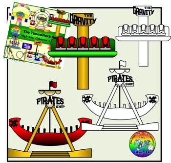 Theme Park + AirPort + GymRoom Series Clipart