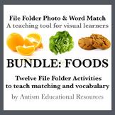BUNDLE: Twelve File Folder Activities teaching Matching &