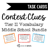 Tier II Vocabulary Context Clue Task Cards for Middle School BUNDLE