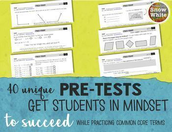 Multiplication Tests for Growth Mindset: 10s & 12s