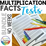 Multiplication Tests Quizzes Practice for Growth Mindset: 10s & 12s {Bundle}