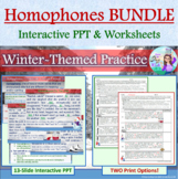 BUNDLE: To/Too/Two Winter-Themed Interactive PPT & Worksheets