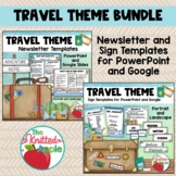 BUNDLE: Travel Theme Newsletters and Editable Signs