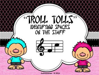 BUNDLE - Troll Tolls (Set of 3) Numbering Lines/Spaces on Staff - PDF Edition