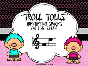 BUNDLE - Troll Tolls (Set of 3) Numbering Lines/Spaces on Staff - PPT Edition