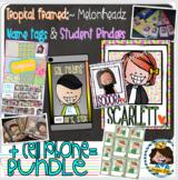 BUNDLE {Tropical} + Binders + Labels + Cell phone name tag