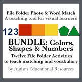 BUNDLE: Twelve File Folder Activities about Colors, Shapes