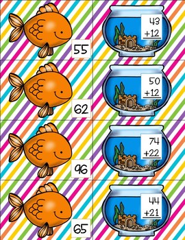 BUNDLE Two Digit Addition and Subtraction Match Cards
