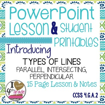 Types of Lines Lesson & Printables