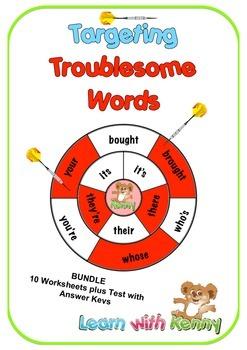BUNDLE - (U.K. English) Targeting Troublesome Words