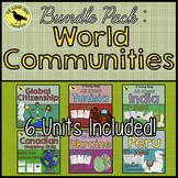 ALL 'World Communities' Country Study Units - Plus BONUS Mapping unit!